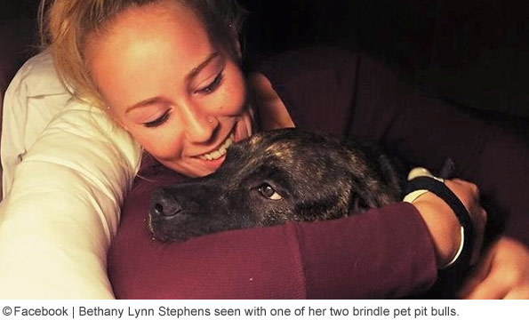 Bethany Stephens seen with pit bull that killed her