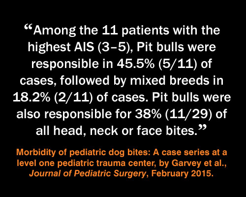 Meme: pit bull injuries, Morbidity of pediatric dog bites: A case series at a level one pediatric trauma center