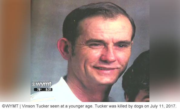 Vinson Tucker was mauled to death by a pack of dogs