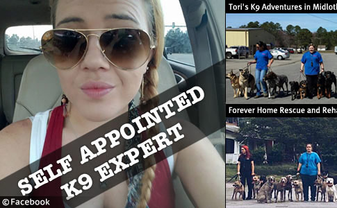 self appointed k9 expert tori trent