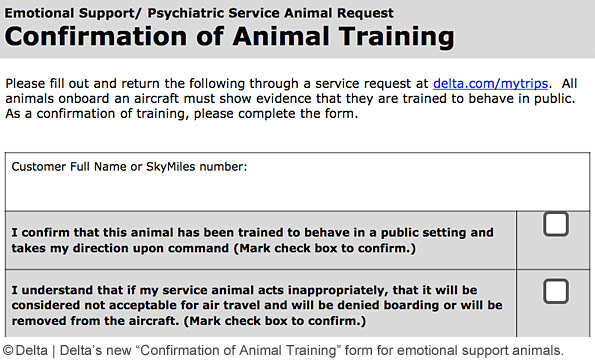 Delta Confirmation of Animal Training