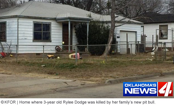 Home on north F street, child killed by family pit bull, duncan oklahoma