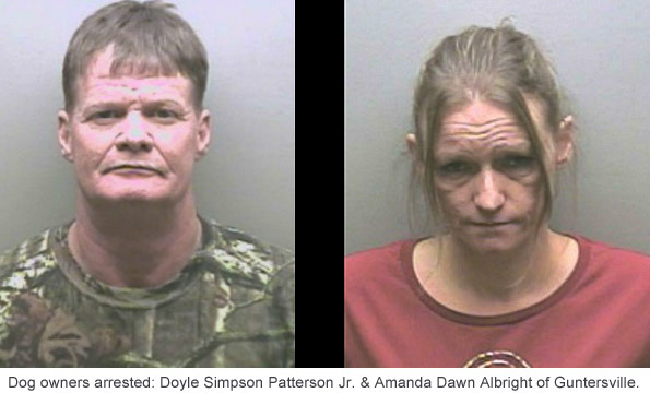 Guntersville pit bull owners arrested after dogs killed woman