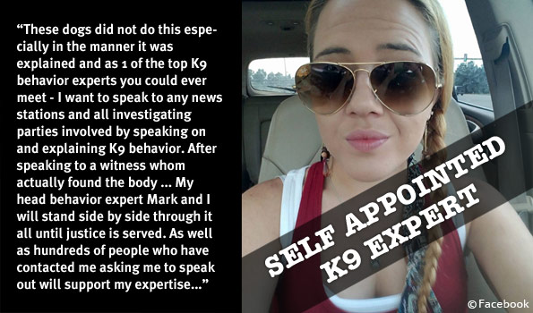 self-appointed k9 expert tori trent