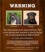 safety flyer warning pit bulls and rottweilers
