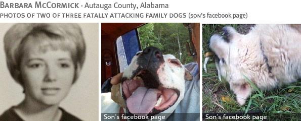 Fatal pit bull attack - Barbara McCormick