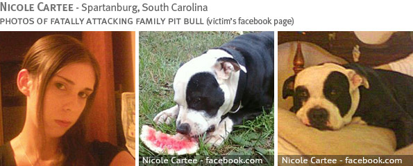 Fatal pit bull attack - Nicole Cartee