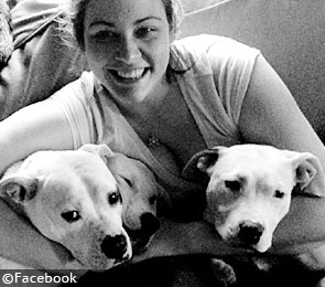 sister with her pit bulls