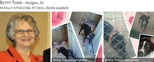 Fatal pit bull attack - Betty Todd photo