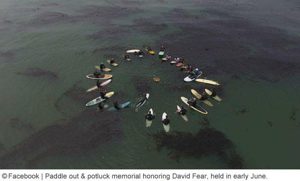 david fear memorial paddle out and potluck