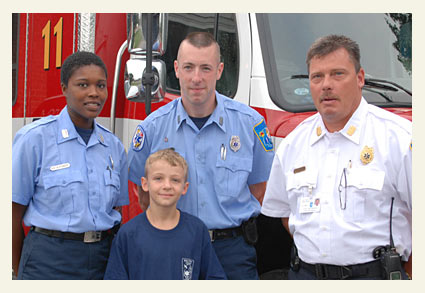 Dominic Solesky and EMT team