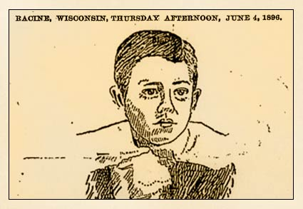 Harry Acklam killed by two pit bulls, Racine 1896