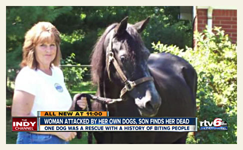 Brownsburg woman killed by family dogs