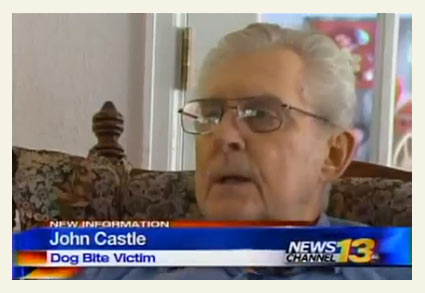 John Castle survived a life-threatening pit bull attack