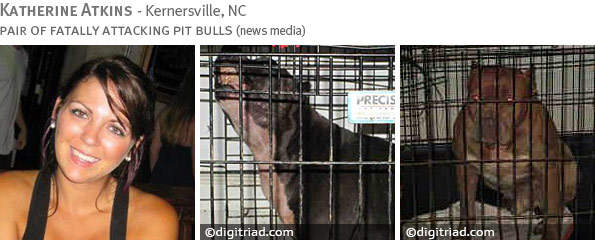 Fatal pit bull attack - Katherine Atkins photo