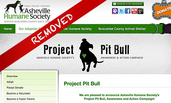 humane society removes pages after fatal pit bull attack