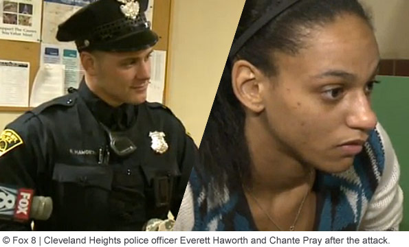 pit bull attack Officer Haworth and Chante Pray